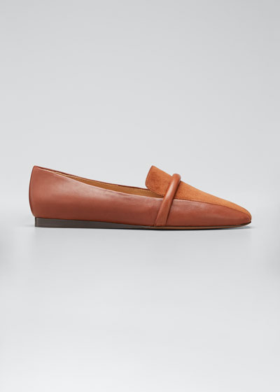 Grier Suede & Leather Slip-On Loafers