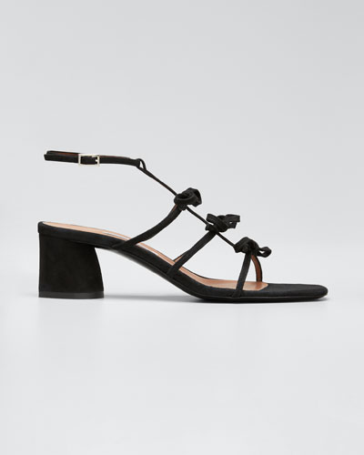 Covie Suede Knotted Sandals