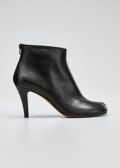 Tabi Stiletto Leather Back-Zip Booties