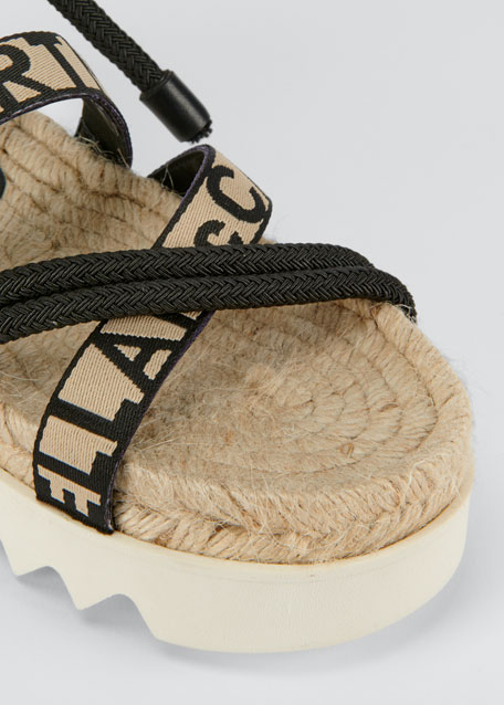 Logo-Web Ankle-Wrap Sandals
