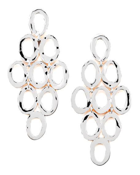 Silver Open Cascade Post Earrings