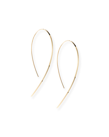 Small Flat Hook-On Hoop Earrings