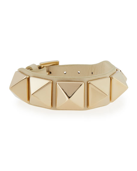 Medium Rockstud Leather Bracelet