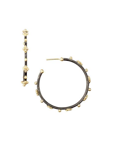 Diamond Cravelli Cross Small Hoop Earrings
