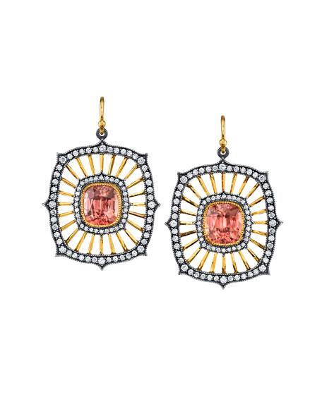 Zircon Deco-Drop Earrings