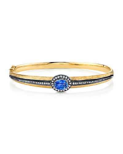 Single-Sapphire Bracelet w/ Diamonds