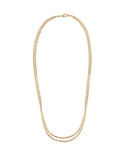 14k Gold 2-Strand Necklace