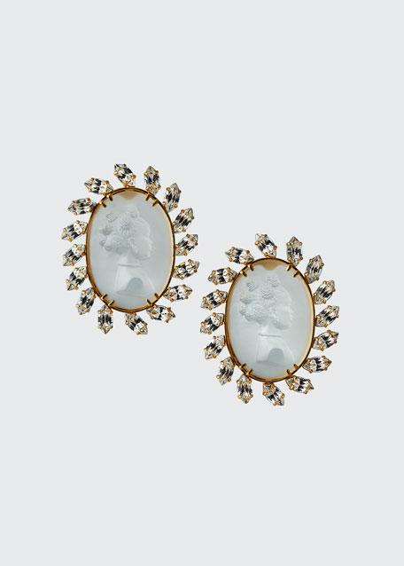 Cameo Circle Earrings