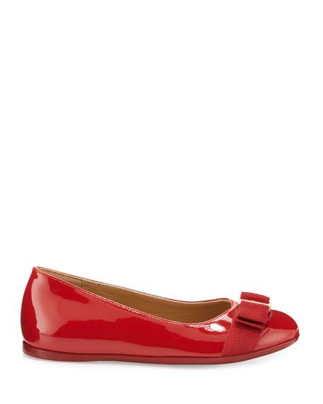 Varina Mini Patent Leather Ballet Flats, 10T-2Y