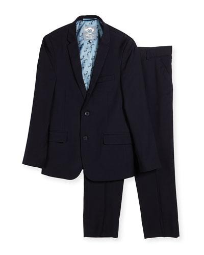 Boys' Two-Piece Mod Suit  Navy  Size 16