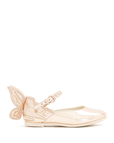 Chiara Butterfly-Wing Flat, Pink, Toddler/Youth