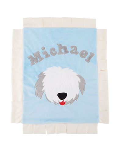 Personalized Pup Love Plush Lovey  Blue