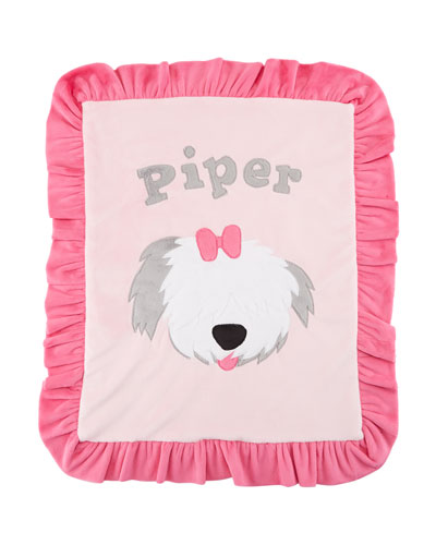 Personalized Pup Love Plush Lovey  Pink