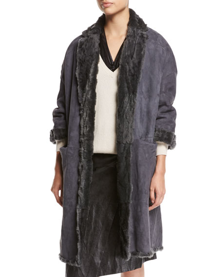 Animale Reversible Shearling Fur Coat