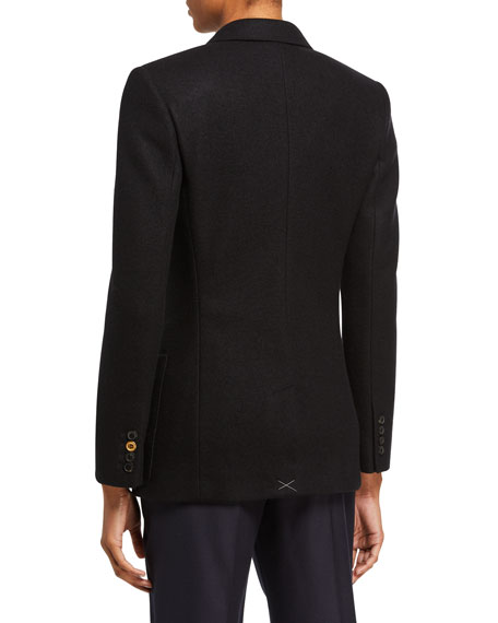 Cashmere Jersey Double-Breasted Jacket