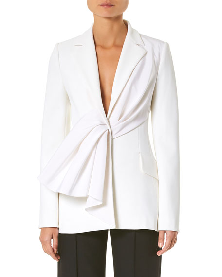 Image 1 of 1: Asymmetric Draped Ruched Jacket