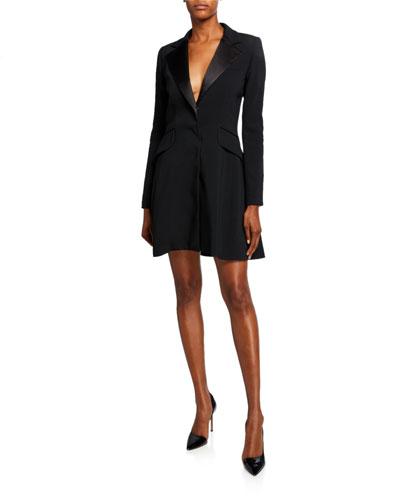 Notched Lapel Suit Dress