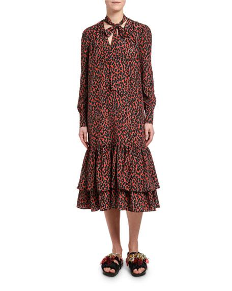Animal-Print Good Witch Dress