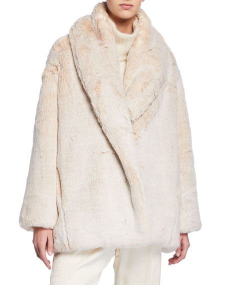 Faux-Fur Fluffy Coat