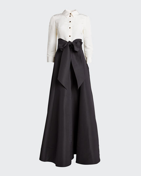 Icon Two-Tone Trench Gown