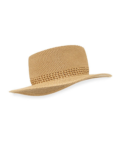 Bayou Squishee Woven Fedora Hat