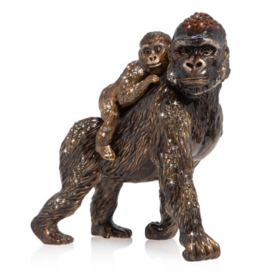 Mother & Baby Gorilla Figurine