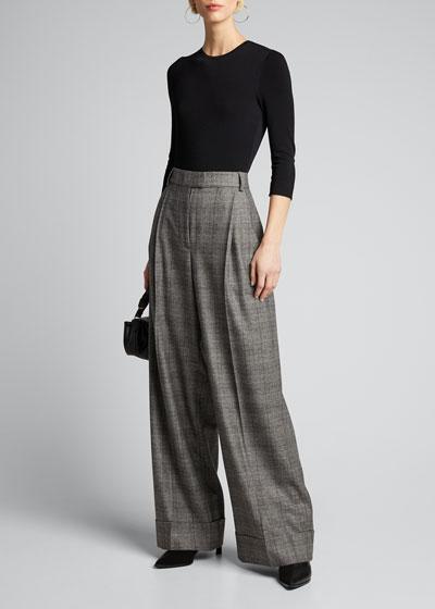3/4-Sleeve Open-Back Bodysuit