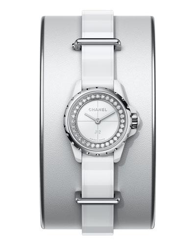 J12 XS White Small Cuff Watch