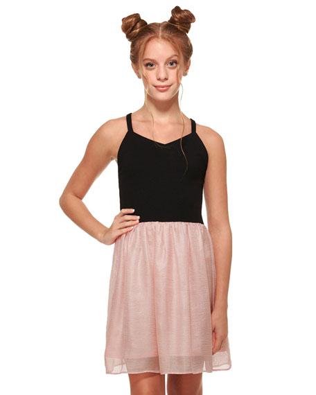 The Alexandra Super Ponti & Chiffon Dress, Size S-XL