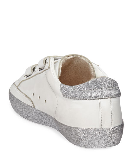 Girl's Old School Glitter Sole Low-Top Sneakers, Baby/Toddler