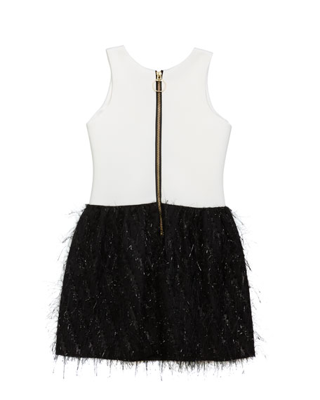 Girl's Fly Metallic Bubble Skirt Dress, Size 7-16