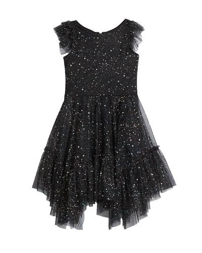 Girl's Twilight Sparkle Tulle Ruffle Dress  Size 7-16