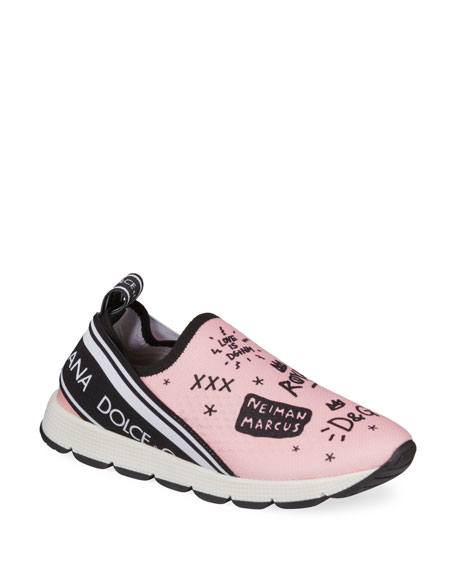 DG + NM Maglina Slip-On Knit Logo-Patch Sneakers, Toddler