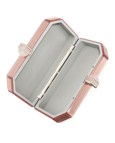 Faceted Mirrored Box Clutch