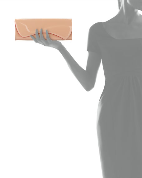 Pigalle Patent Clutch Bag