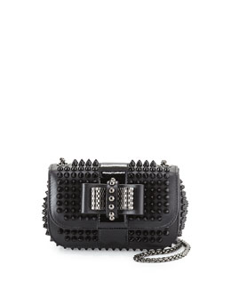 Sweet Charity Small Spiked Crossbody Bag, Black