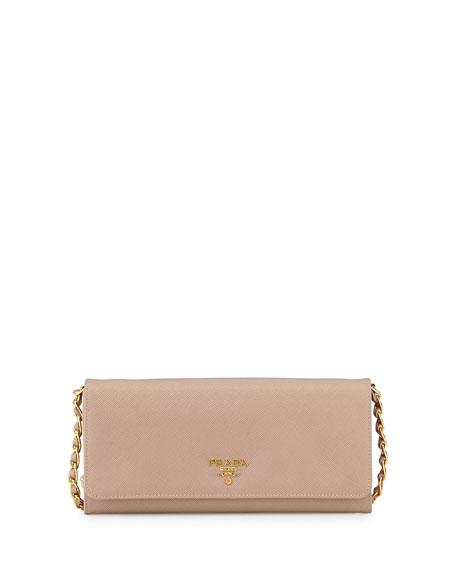 Prada Saffiano Leather Wallet-on-Chain