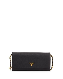 Saffiano Leather Wallet-on-Chain