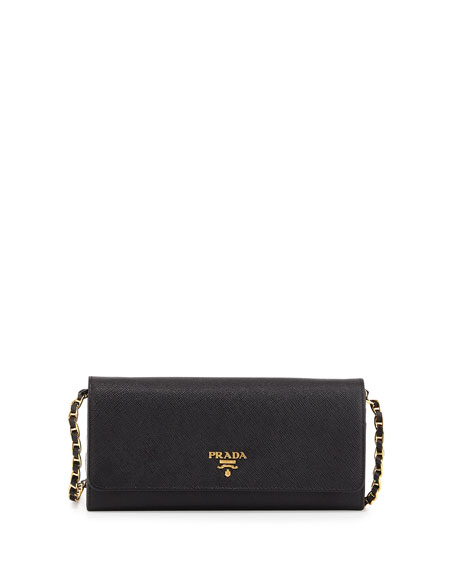 prada clutches - Prada Saffiano Leather Wallet-on-Chain