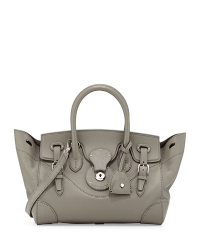 Ricky 27 Leather Satchel Bag, Gray