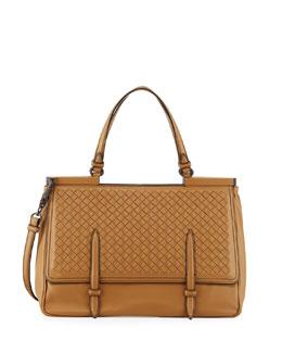 Intrecciato Medium Flap Bag