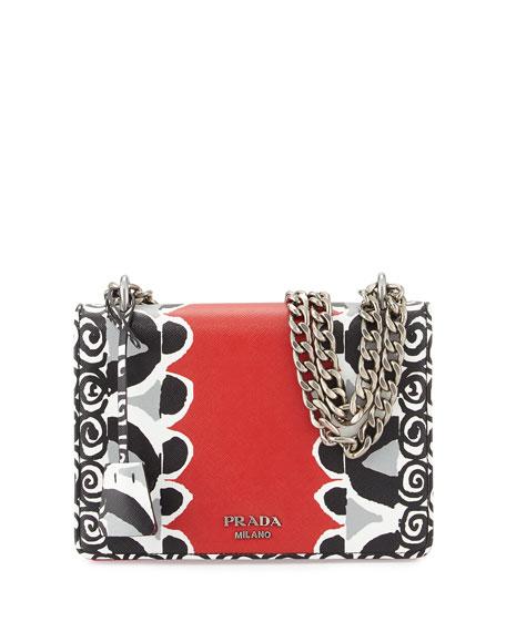 chanel diaper bag tote - PRADA Leopard-Print & Calfskin Flap Shoulder Bag, Black/Honey ...