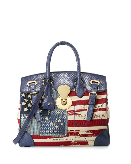 Image 1 of 1: American Flag Ricky Bag, Red/Blue