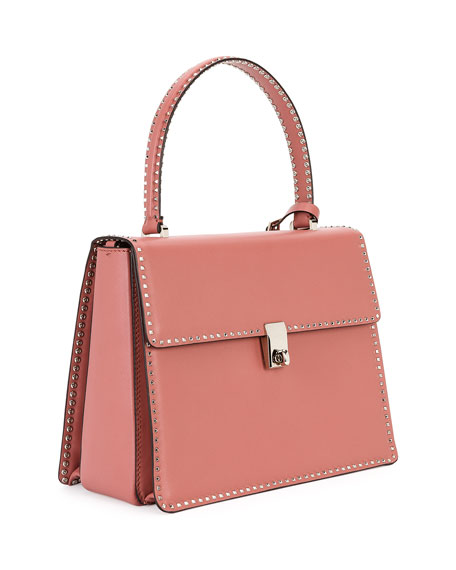 Rockstud Top-Handle Satchel Bag