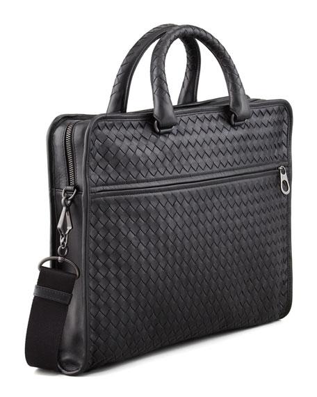 Slim Woven Briefcase