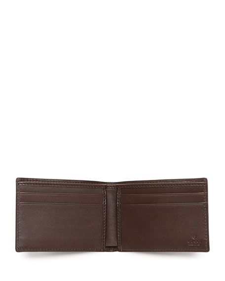 Signature Leather Bi-Fold Wallet