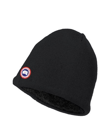 Image 1 of 1: Merino Wool Fleece-Lined Beanie