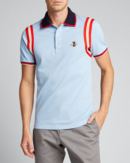 Bee-Embroidered Polo Shirt