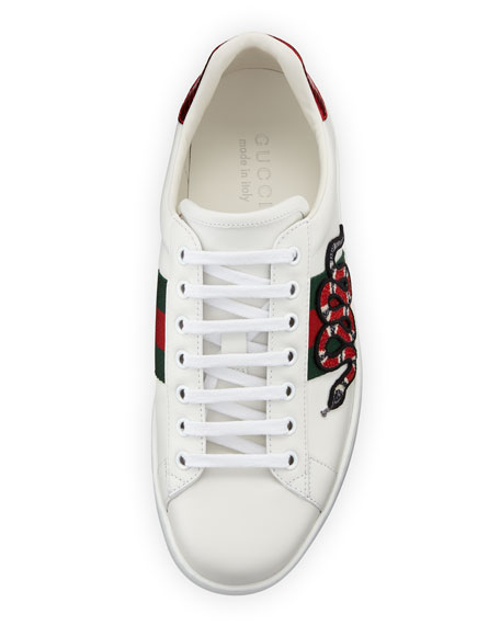 New Ace Men's Snake Sneakers, White