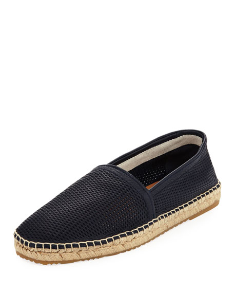 Image 1 of 1: Men's Perforated Deerskin Leather Espadrille